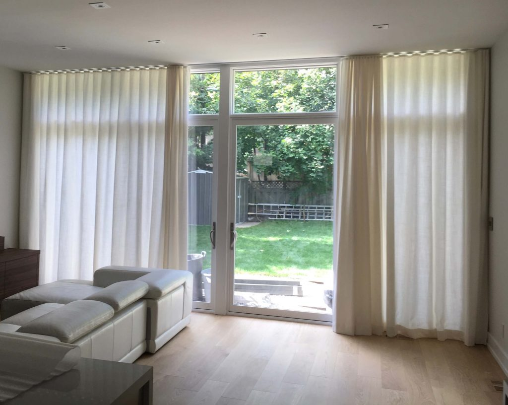 Curtain Sheers Linen Family Room