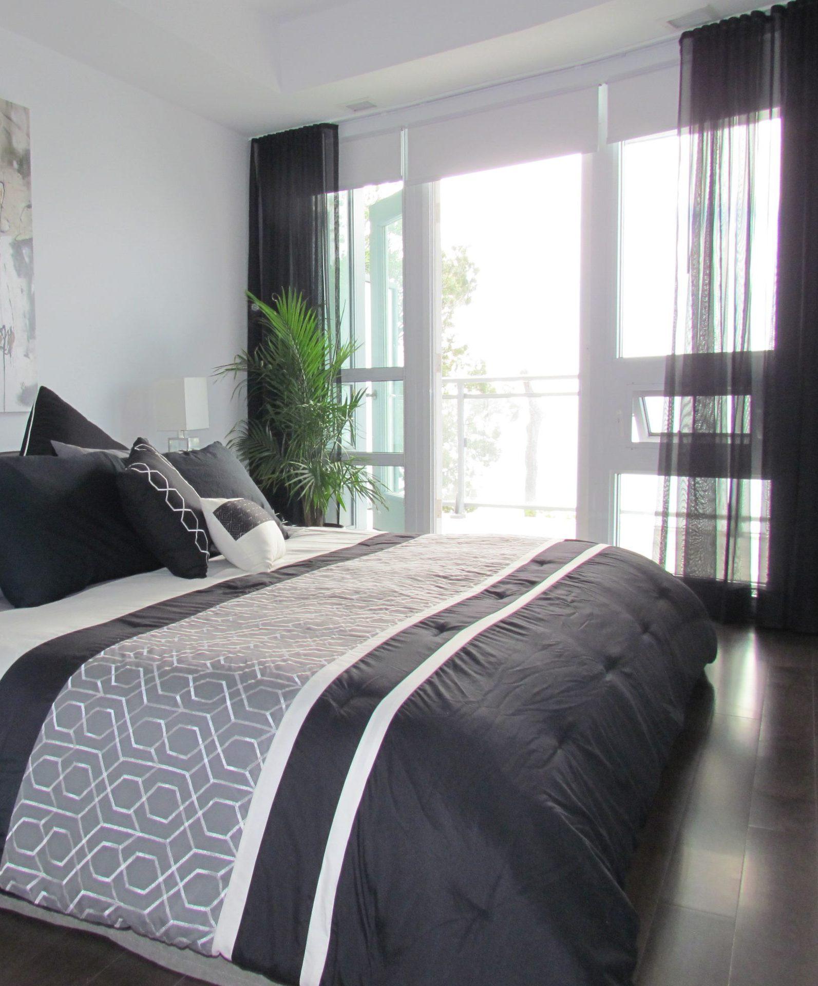 Bedroom Black Sheers