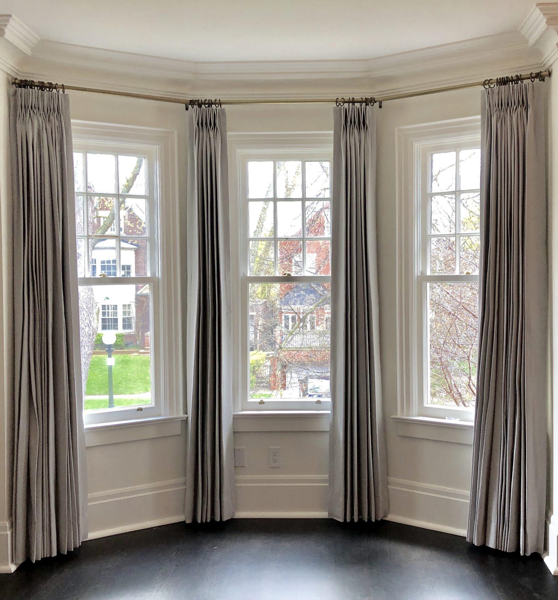 Rosedale Master Bedroom Drapery - Bow Window
