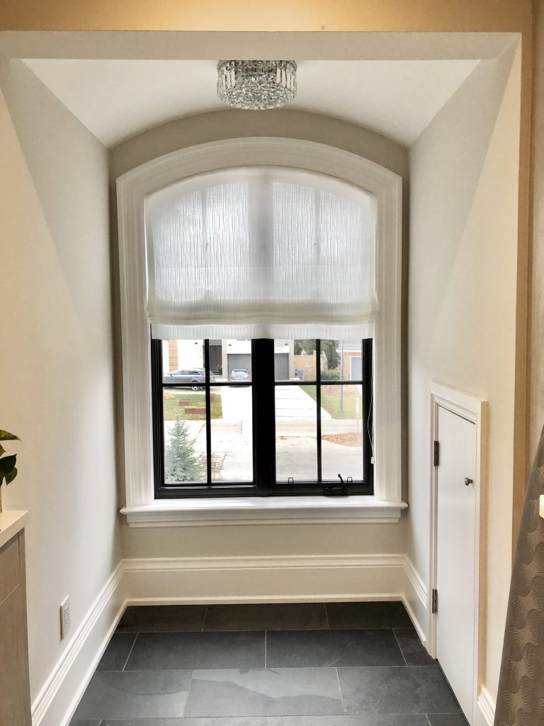 Arched Window Roman Shades