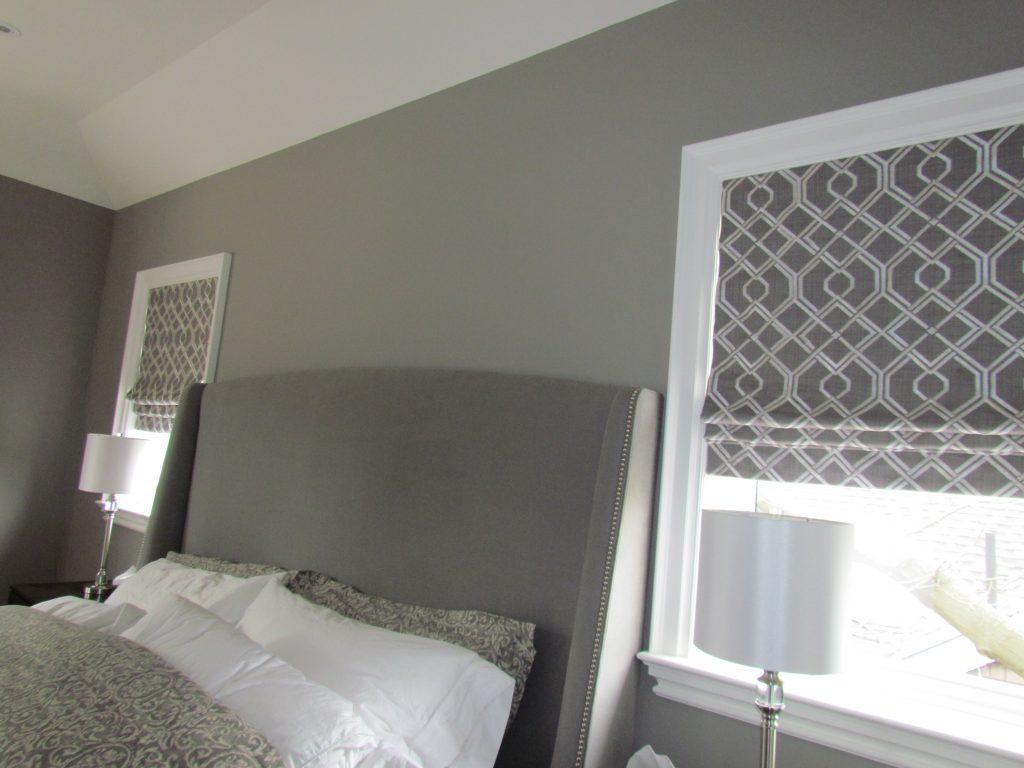 Roman Shades Master Bedroom Grey