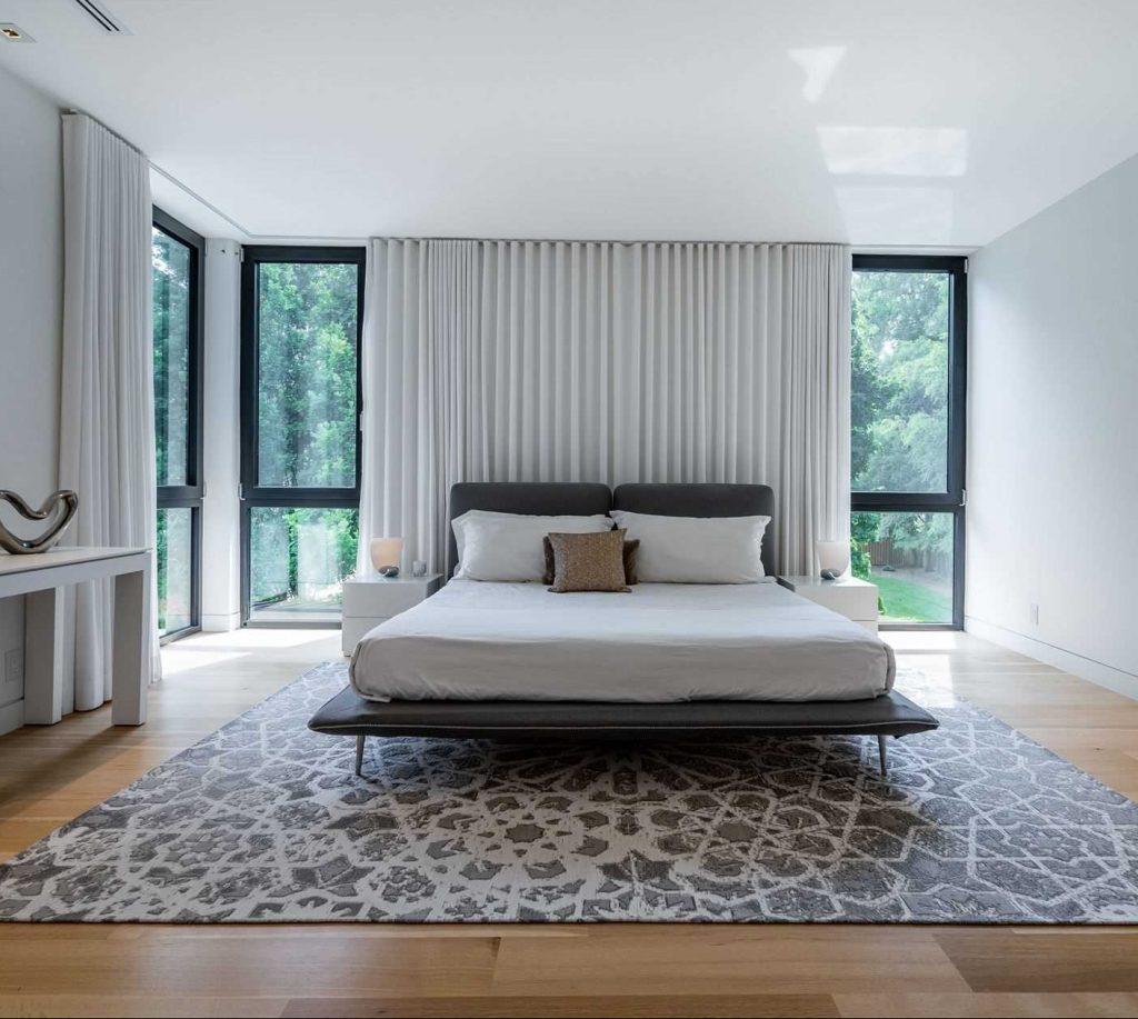 Ripplefold Sheers Lined Bedroom Master